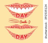 smile made of a set of words... | Shutterstock .eps vector #392535124