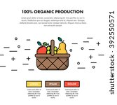 100  organic production one... | Shutterstock .eps vector #392550571