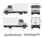 vector cargo truck  van  lorry | Shutterstock .eps vector #392550679