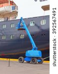 Small photo of Maintenance work on the ship on arrival at the port of Akureyri, Iceland