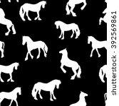 Black Horse Silhouette Seamless ...