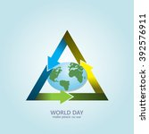 globe arrows cycle. world day.... | Shutterstock .eps vector #392576911
