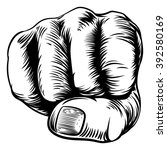 an original design of a fist... | Shutterstock . vector #392580169
