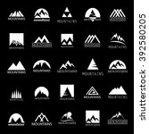 mountain icons set isolated on... | Shutterstock .eps vector #392580205