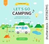 let's go camping | Shutterstock .eps vector #392582941