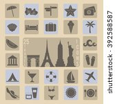 collection of 25 travel ... | Shutterstock . vector #392588587