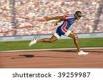 African American Sprinter...