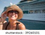 Beautiful Vacationing Woman On...