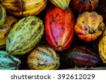 Stack Macro Of Cocoa Pods From...