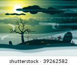 a halloween illustration image. ... | Shutterstock . vector #39262582