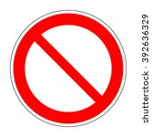red no not allowed symbol on... | Shutterstock .eps vector #392636329