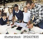 science electronic circuit... | Shutterstock . vector #392637835