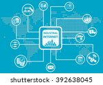 industrial internet or industry ... | Shutterstock .eps vector #392638045