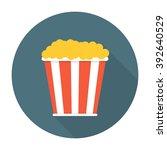 pop corn flat icon | Shutterstock .eps vector #392640529