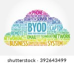 byod   bring your own device... | Shutterstock .eps vector #392643499