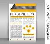 business flyer vector template... | Shutterstock .eps vector #392643877