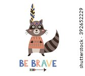 be brave vector card with a... | Shutterstock .eps vector #392652229