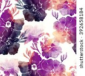 imprints spring primroses.... | Shutterstock . vector #392658184