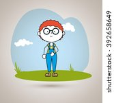happy kids design  | Shutterstock .eps vector #392658649