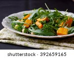 fresh vegetarian salad with... | Shutterstock . vector #392659165