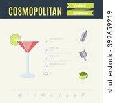 cosmopolitan. cocktail... | Shutterstock .eps vector #392659219
