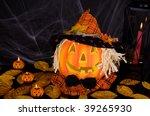funniest halloween pumpkin | Shutterstock . vector #39265930