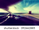 car speed concept.travel and... | Shutterstock . vector #392662885