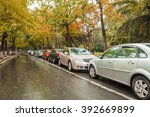 cars parked along the street | Shutterstock . vector #392669899