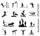 sport life. vector icons set