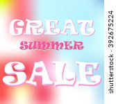 summer sale design template... | Shutterstock .eps vector #392675224