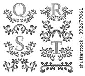 design ornamental elements and... | Shutterstock .eps vector #392679061
