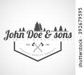 "vector logotype.example  ""john... | Shutterstock .eps vector #392679595"