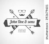 "vector logotype.example  ""john... | Shutterstock .eps vector #392679601"