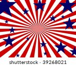 blue stars over red and white... | Shutterstock . vector #39268021