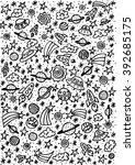 doodle space elements. vector...   Shutterstock .eps vector #392685175