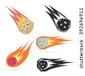 meteorite | Shutterstock .eps vector #392696911