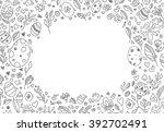easter border  eggs  floral... | Shutterstock .eps vector #392702491