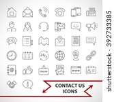 contact us icons set isolated... | Shutterstock .eps vector #392733385