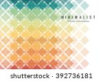 abstract colorful geometric... | Shutterstock .eps vector #392736181