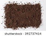 dark soil isolated on white... | Shutterstock . vector #392737414