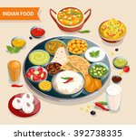 indian food composition of... | Shutterstock .eps vector #392738335