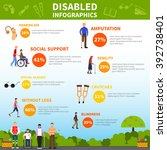 disability infographics layout ... | Shutterstock .eps vector #392738401