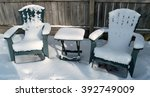 Snow Covered Lawn Furniture By...