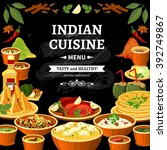 indian cuisine restaurant menu...   Shutterstock .eps vector #392749867