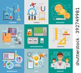 exact science research 9 flat... | Shutterstock .eps vector #392749981