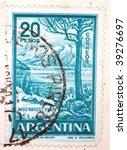 argentina   circa 1960  a stamp ... | Shutterstock . vector #39276697