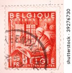 belgium   circa 1950  a stamp...   Shutterstock . vector #39276730