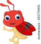 cute ladybug cartoon | Shutterstock .eps vector #392770951