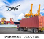 truck transport container and... | Shutterstock . vector #392774101