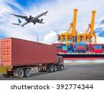 truck transport container and... | Shutterstock . vector #392774344